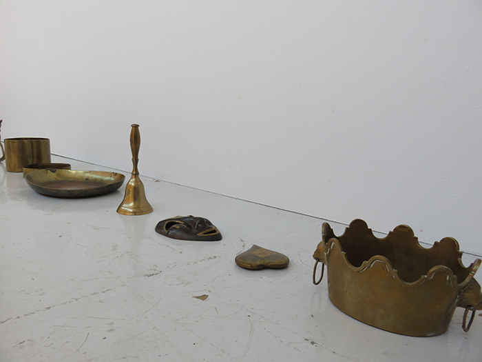 Hector Canonge photo of objects from project MAKHANAS Installation and Performance at Defibrillator Gallery Chicago USA